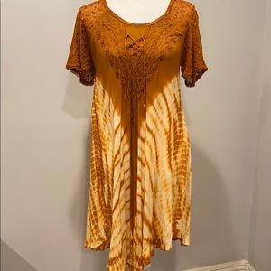 Boho Tie Dye Dress